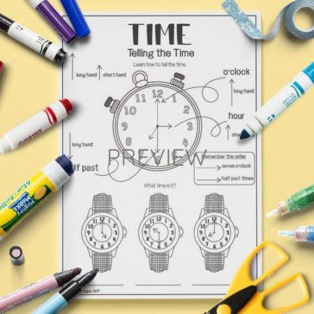 ESL English Telling The Time Activity Worksheet