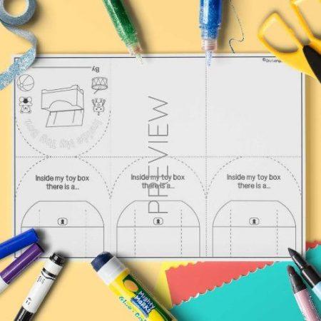 ESL English Toy Box Book Craft Activity Worksheet