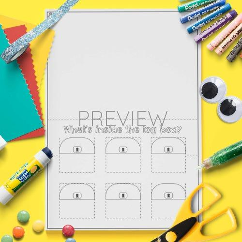 ESL English Toy Box Craft Activity Worksheet