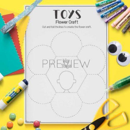 ESL English Toys Flower Craft Activity Worksheet
