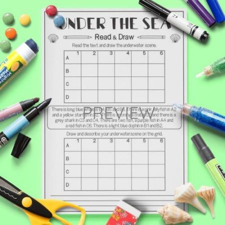 ESL English Under The Sea Read And Draw Activity Worksheet