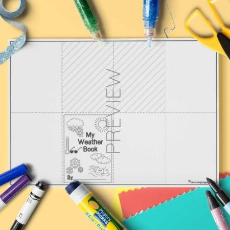 ESL English Weather Craft Book Activity Worksheet