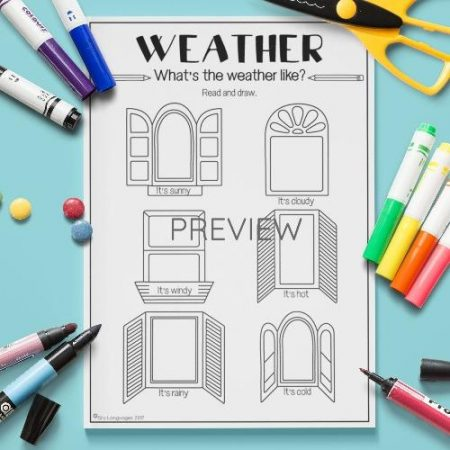 ESL English What Is The Weather Like Activity Worksheet