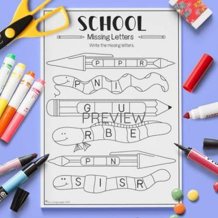 ESL English Weather Missing Letters Activity Worksheet