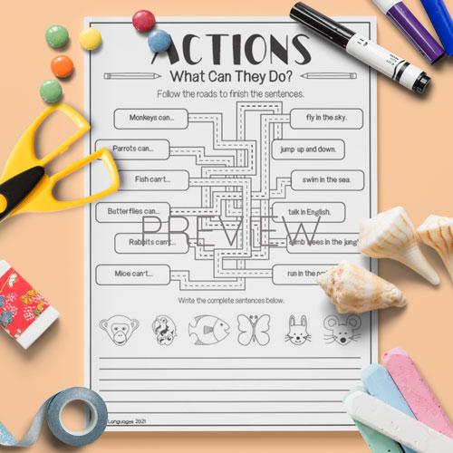 ESL English Line Puzzle Activity Worksheet