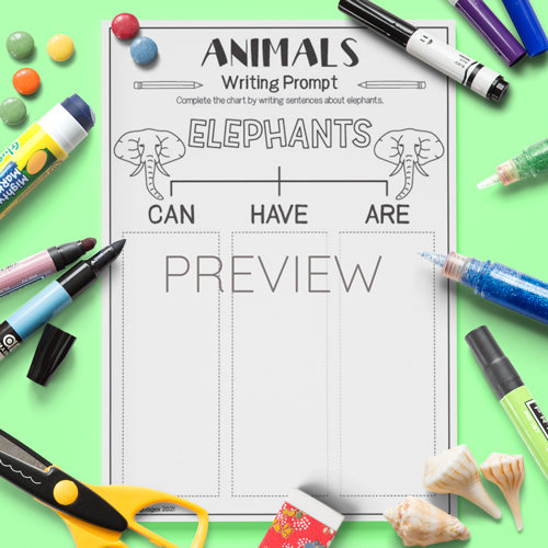 ESL English Elephants Can Have Are Activity Worksheet
