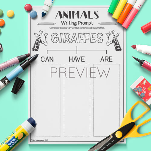 ESL English Giraffes Can Have Are Activity Worksheet