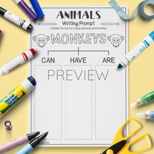 ESL English Monkeys Can Have Are Activity Worksheet