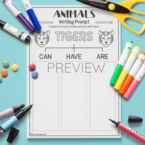 ESL English Tigers Can Have Are Activity Worksheet