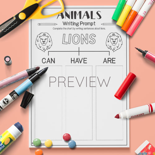 ESL English Lions Can Have Are Activity Worksheet